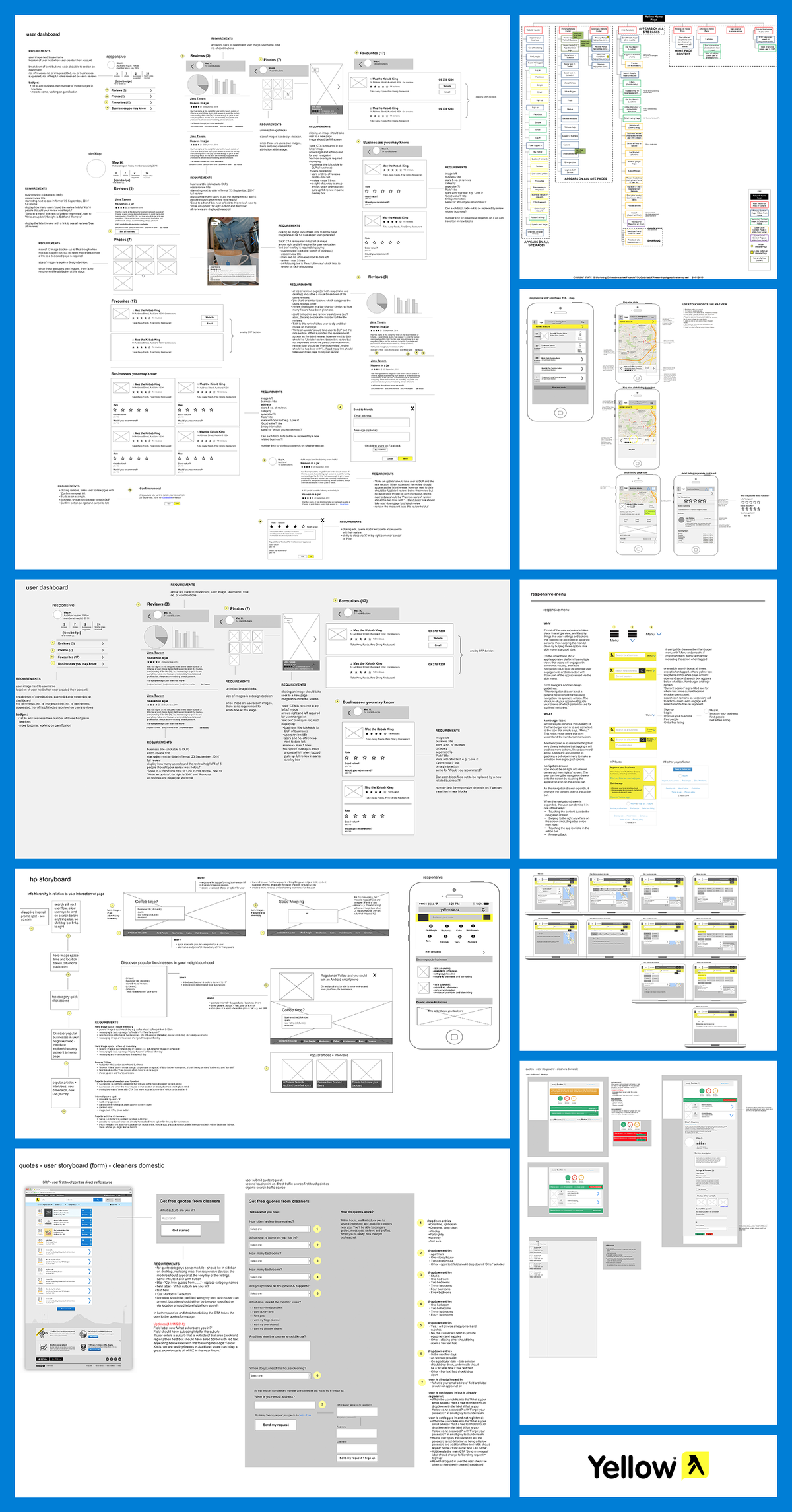 Yellow wireframes